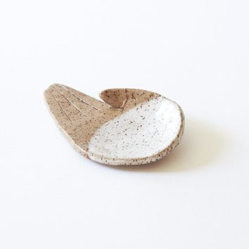 Open Palm Incense Holder - White + Natural