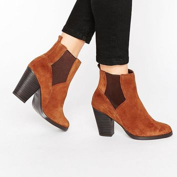 New Look Western Suede Chelsea Boot