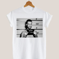 American apparel shirt adam levine maroon Mugshot t shirt mens and woman by KerisPutih Available Size : S,M,L,XL,XXL