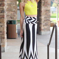 James Dean High Waisted Maxi Skirt (Black)