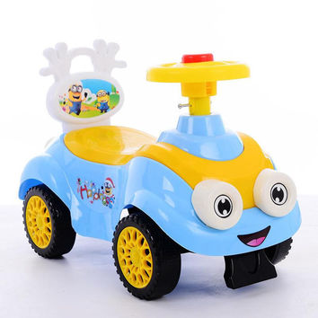 children cartoon Swing car lovely can ride toy 1 to 3 years baby Non-toxic safety child creative car kids Christmas gift