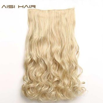 MDIGON AISI HAIR 22' 17 Colors Long Wavy High Temperature Fiber Synthetic Clip in Hair Extensions for Women