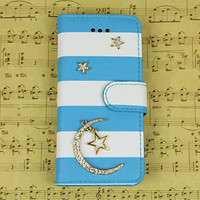 Samsung galaxy s3 s4 s5 note 3 star moon plastic luxury wallet flip case cover skin, fashion samsung s5 phone case galaxy note 3 wallet case