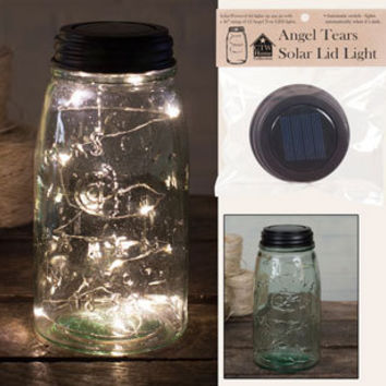 Angel Tears Solar Light Lid, Mason Jar Solar Light Lid, Angel Tears Lid