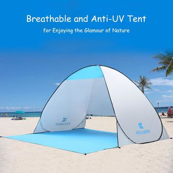 Beach Tent 2 Persons Tent Instant Pop Up Open Anti UV Awning Tents Outdoor Sun Shelter