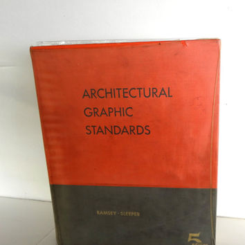 Architectural Graphic Standards 5th Edition Ninth Printing Hardcover 1965 Some Wear