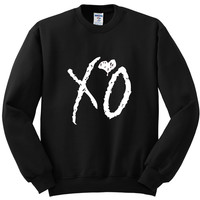 "The Weeknd ""XO"" Logo Crewneck Sweatshirt"