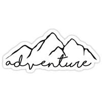 'Adventure- sticker' Sticker by stickerzzz