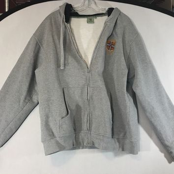 Cambridge Official University England Hoodie Sweatshirt Zip Up Warm Sz 2XL