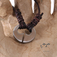 VujuWear Virility/Fertility Necklace - Men's Leather Necklace