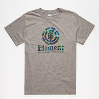 Element Vertical Mens T-Shirt Heather Grey  In Sizes