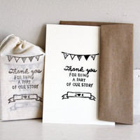 Thank you wedding favor stamp Featured on by nativebear on Etsy
