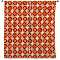 Window Curtains Unlined from DiaNoche Designs Unique, Decorative, Funky, Cool by Julia Grifol Circles Red
