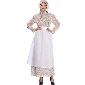 Stage Clothing Granny Dress+hat+Apron Costume For Adults