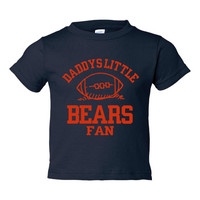Daddys Little Bears Fan Toddler And Youth T-Shirt Chicago Fans Printed Tee for Kids Creepers & T-Shirts. Makes a Great Gift!!