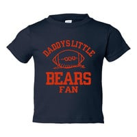 Adorable Printed Toddlers T Shirt Daddys little BEARS FAN Toddler thru Youth Personalization available GREAT Gift Chicago Bears Fans