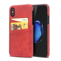 iPhone X Wallet Case Leather
