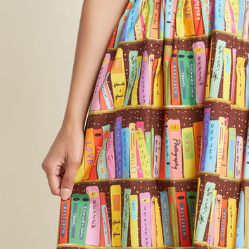 Flit and Flirt A-Line Skirt in Library