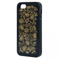 Rifle Paper iPhone 5 Case - Golden Bouquet On Black - home office - house & home