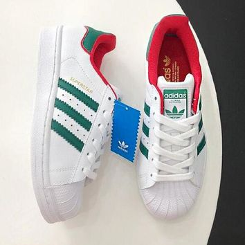 Adidas Superstar Shell-toe Fashionable Women Men Casual Sport Running Shoes Sneakers