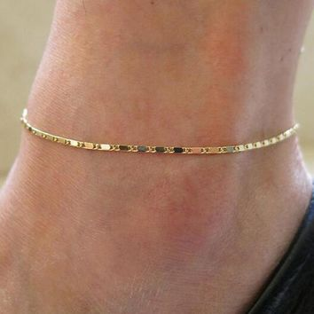 Simple Gold Or Silver Chain Anklet