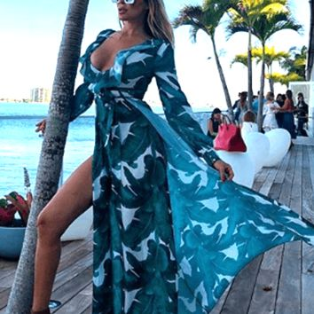 Vacation Baby Green Maxi Dress