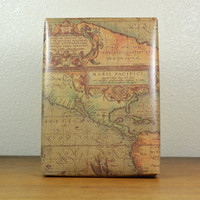 10 feet OLD WORLD MAP kraft wrapping paper, 2 x 10 feet, masculine gift wrap