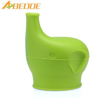 ABEDOE 1 PC Healthy Silicone Sippy Lids Safety Make  Elephant Nose Cup Or Glass Spillproof Cap Reusable Cup Lid Kitchen Supplies