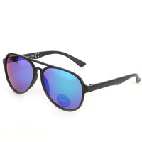 SUNGLASS MIRROR FINISH AVIATOR FASHION POLYCARBONATE LENS UV 4OO 2 1/3 INCH WIDE LENS