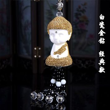 Buddhist Car pendant Crystal Buddha car styling interior decoration Lucky pendant vehicle accessories auto gift dropship