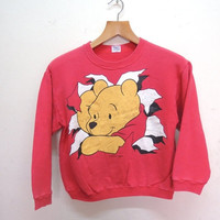 25% SALES ALERT Vintage 90's Pooh by Disney Sweatshirt Cartoon Street Wear Swag Funny Sweater