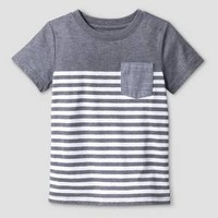 Baby Boys' T-Shirt - Cat & Jack™ Gray Stripe