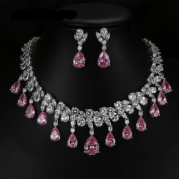 Glamour Cubic Zircon Bridal Jewelry Set