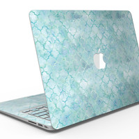 Light Blue Watercolor Quatrefoil - MacBook Air Skin Kit