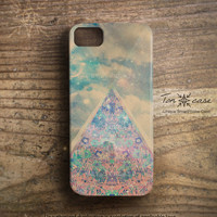 Unique iPhone 5 case - Flower iPhone 4 case, iPhone 4s case, clouds, sky, hipster, Digital art, galaxy - Dreamy abstract artwork (c162)