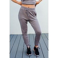 Let's Chill Joggers: Charcoal