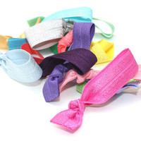 MINI Hair Ties (15) Elastic Hair Tie Bracelet Grab Bag - Girls TINY Hair Ties - Like Emi Jay Hair Elastics for Fine Hair - Little Girls Gift
