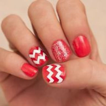 Chevron Pattern Nail Decals Large Spikey Lines Sticker Chevron Nail Art Do It Yourself - Set of 20