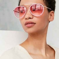 Flamingo Aviator Sunglasses - Urban Outfitters