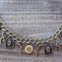 Bullet jewelry. Country hunting themed charm bracelet with bullet casings