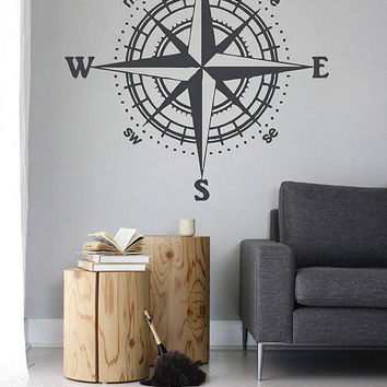 kik2981 Wall Decal Sticker compass living room bedroom