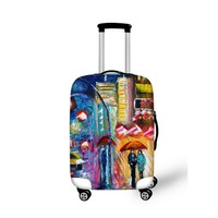 FORUDESIGNS Tumblr Style Thick Elastic Luggage Protective Covers 3D Printing for 18-30 inch Trolley Suitcase Dustproof Covers