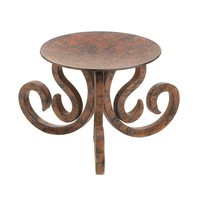 Rustic Iron Scrollwork Pillar Candle Stand