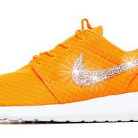 Nike Roshe One Customized by Glitter Kicks - Orange