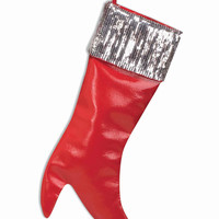 High Heel Christmas Stocking w/Sequins