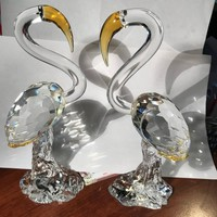 CRYSTAL SWAN PAIR