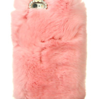 SO FURRY PASTEL PINK IPHONE CASE
