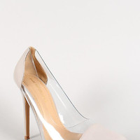 Shoe Republic Lucite Pointy Toe Stiletto Pump Color: Red, Size: 7