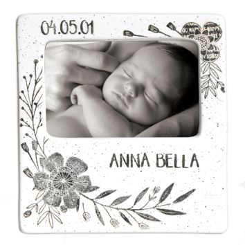 Personalized Flower Baby Photo Frame