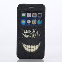 were all mad here Print Leather Case Cover for iPhone 6S 6 Plus Samsung Galaxy S6